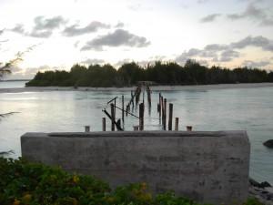 What's left of bridge to Peale