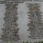 Wake civilian names (2 of 3) on mass grave at Punchbowl