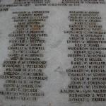 Wake civilian names (3 of 3) on mass grave at Punchbowl