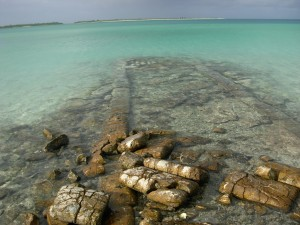 PAA ruins in lagoon