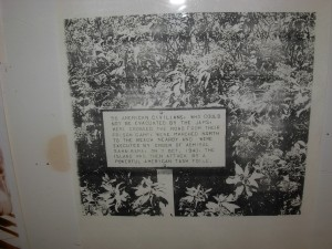 Sign previously posted at massacre site