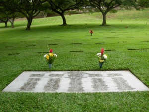 Wake group burial, Punchbowl Cemetery, Honolulu