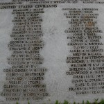 Wake civilian names (2 of 3) on mass grave at Punchbowl