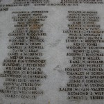 Wake civilian names (3 of 3) on mass grave at Punchbowl