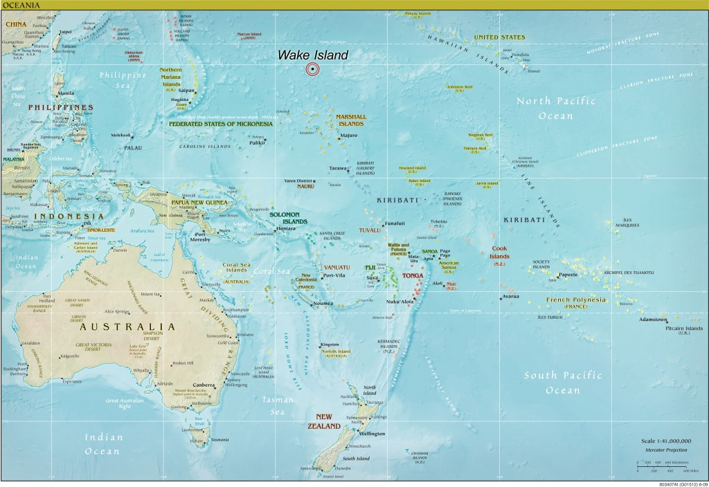 Map of Oceania