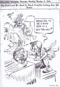 Political cartoon, 1941